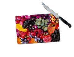 Fruit Small Tempered Glass Cutting Board
