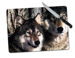 Wolves Tempered Glass Cutting Board