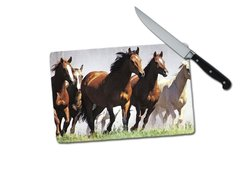 Horse Small Tempered Glass Cutting Board