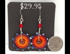 Sunset Sizzle Glass Earrings by Heidi Klepper