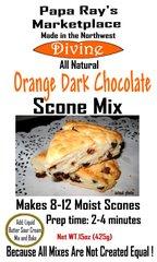 Papa Ray's Orange Dark Chocolate Scone Mix