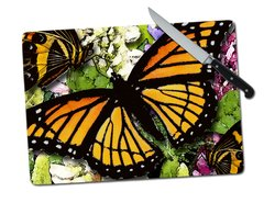 Butterfly Tempered Glass Cutting Board