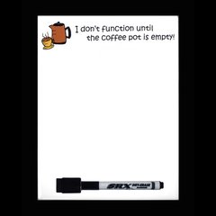 Coffee Dry Erase Magnetic Message Board