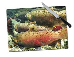 Fish Large Tempered Glass Cutting Board