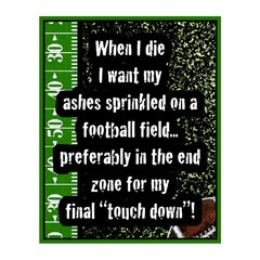 When I Die Sports Sign