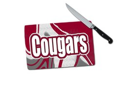 Cougars Small Tempered Glass Cutting Board