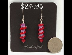 Red Hot Wrap Glass Earrings by Heidi Klepper