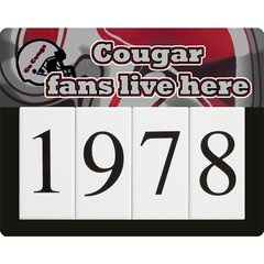 Cougar Address Sign Small