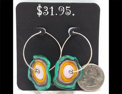 Check A Me Out Glass Earrings by Heidi Klepper