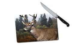 Deer Small Tempered Glass Cutting Board