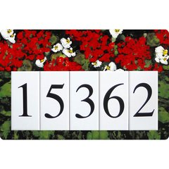 Geranium Address Sign Large