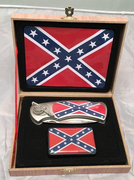 Rebel Confederate Flag Knife Amp Lighter Gift Set Dl