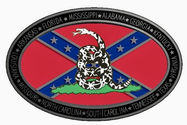Rebel Flag Gadsden Logo With Southern States Belt Buckle
