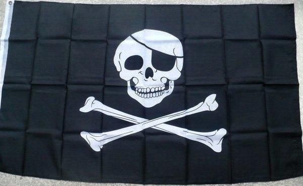Jolly Roger W Patch 3 X 5 Poly Skull Amp Cross Bones Flag