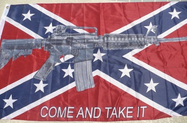 Machine Gun Quot Come And Take It Quot 3 X 5 Rebel Poly Flag