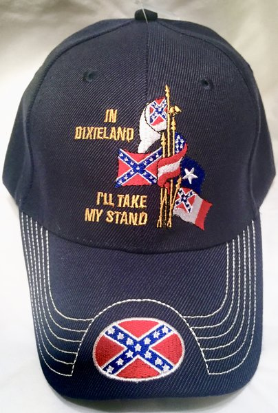 Quot In Dixieland I Ll Take My Stand Quot Navy Blue Cap Dl