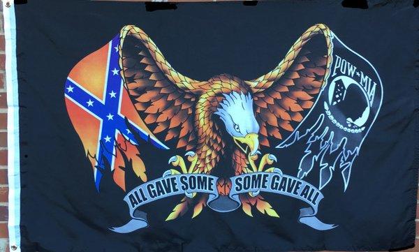 Eagle Pow Rebel All Gave Some Flag Dl Grandeurs