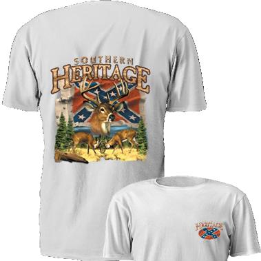 Southern Heritage Deer T Shirt Dl Grandeurs Confederate