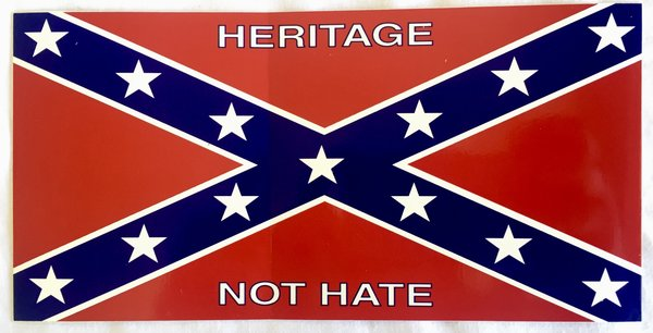 Quot Heritage Not Hate Quot Bumper Sticker Dl Grandeurs