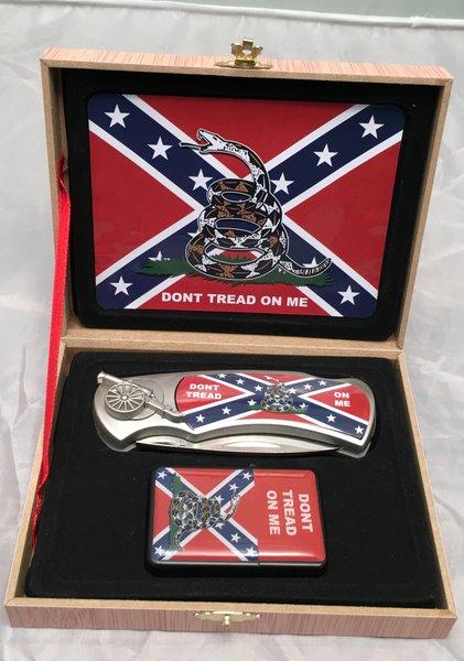 Rebel Flag Amp Gadsden Don T Tread On Me Knife Amp Lighter