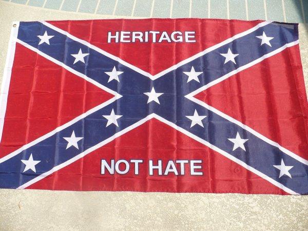 Rebel Flag Poly 3 X 5 Quot Heritage Not Hate Quot Dl Grandeurs