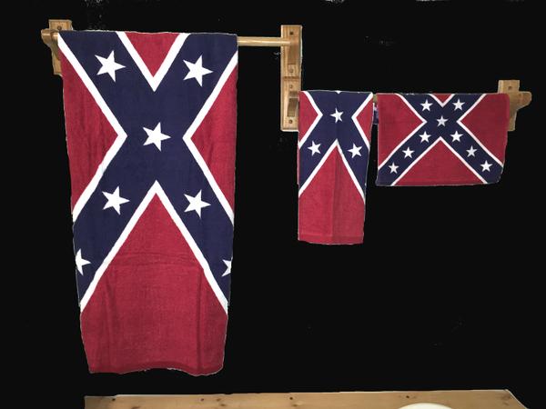 3 Pc Battle Flag Towel Amp Wash Cloth Set Dl Grandeurs