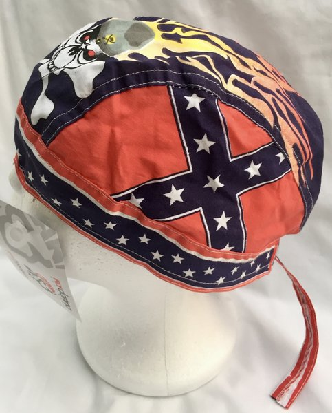 Rebel Skull Flames Do Rag Dl Grandeurs Confederate