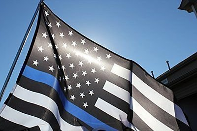 American Usa Blue Lives Matter Thin Blue Line 3 X 5 Flag