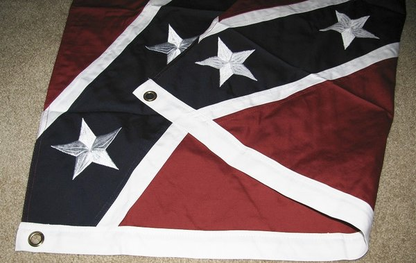 Confederate 6 X 10 Embroidered Flag Dl Grandeurs