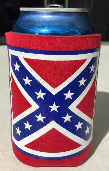 Rebel Flag Red 12 Oz Can Collapsible Koozie Dl Grandeurs