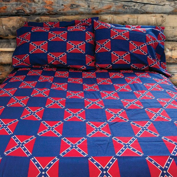 Rebel Flag Sheet Set | DL Grandeurs Confederate & Rebel Goods : rebel flag quilt pattern - Adamdwight.com