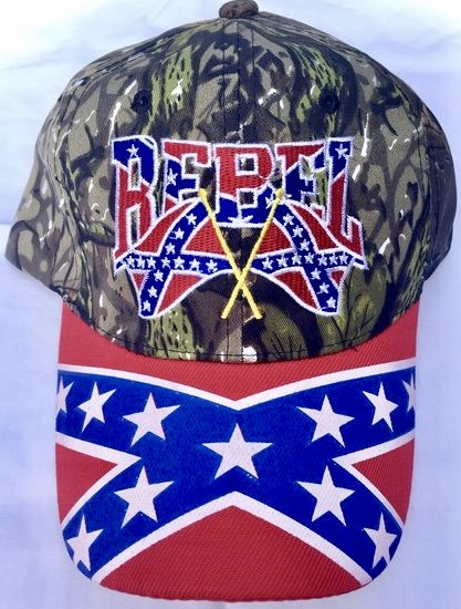 Camo Double Flag Confederate Hat Dl Grandeurs