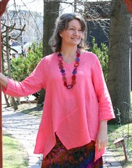 Match Point Linen Tunic Top