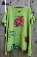 Lime Summer Circle Tunic with Framed Artwork