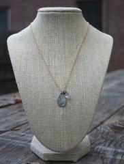 Original Hardware Pressed Silver Necklace