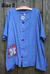 Periwinkle Garden Gauze Blouse -- MORE SIZES