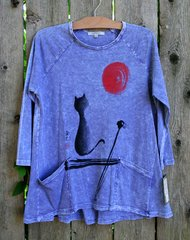 Jess & Jane Sun And Cat Mineral Wash Tunic
