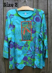 Aqua Garden Top -- MORE SIZES