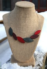 Origins Red Leaves Necklace