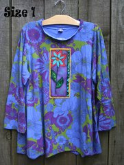 Periwinkle Garden Top -- MORE SIZES
