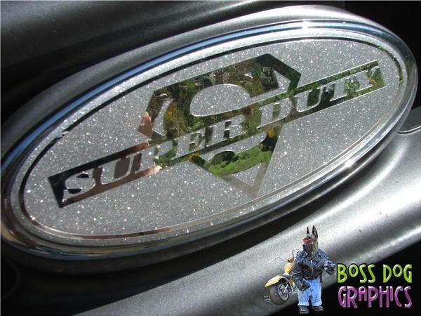 Ford Emblem Overlay Graphic Superduty Fits 2005 2011 F250 550 on vtx 1800 accessories