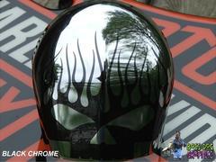 Custom Designed Flamin Skull Graphic fits Harley Davidson Horn Bell Cover