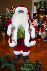 Traditional Santa with Green Vest