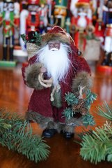Rustic Santa Ornament
