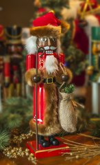 Brown Fur Santa