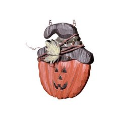 JACK O LANTERN W TWIG WRAPPED HAT