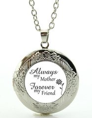 Always my mother Forever my friend mom gifts necklace locket