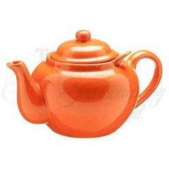 COPACABANA ORANGE 3 CUP DOMINION TEAPOT W/ INFUSER