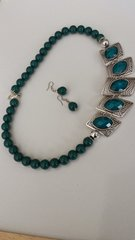 Beaded Necklace in Teal