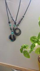 Beaded hematite necklaces Green
